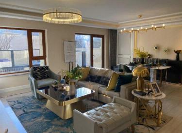 新房中南旭辉和樾现房叠拼别墅下叠大开间下沉式庭院